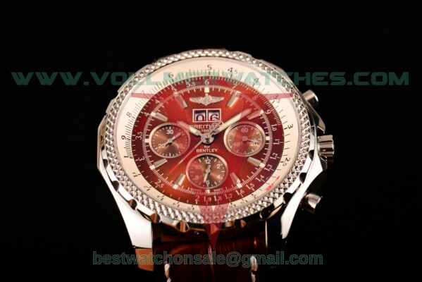 Breitling Bentley 6.75 Speed Chrono 7750 Auto Brown Dial with Steel Case a4436412/q569-2lt (GF)