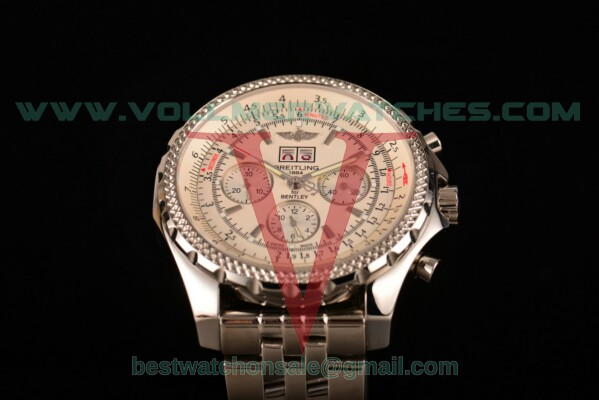 Breitling Bentley 6.75 Speed Chrono 7750 Auto White Dial with Steel Case a4436412/g679-ss (GF)