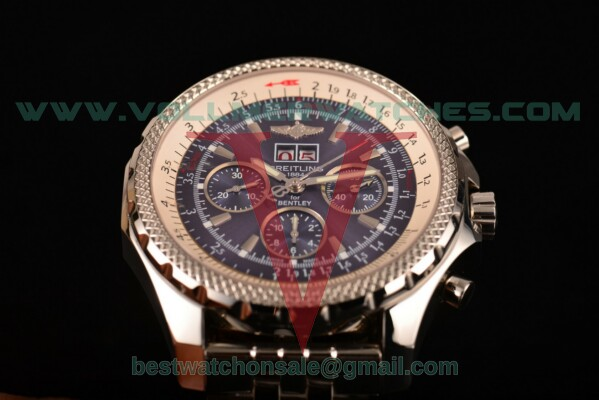 Breitling Bentley 6.75 Speed Chrono 7750 Auto Blue Dial with Steel Case a4436412/c786-ss (GF)