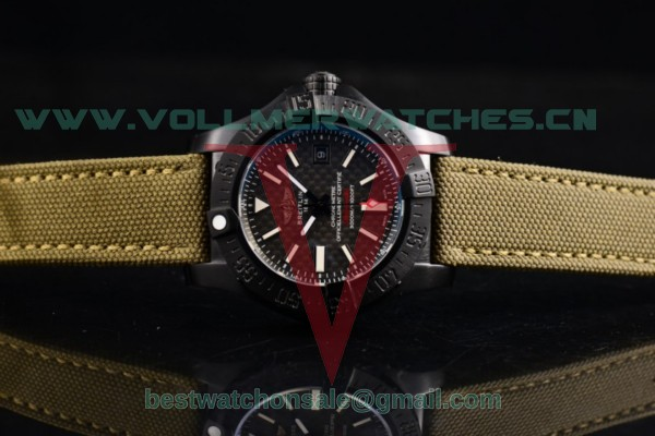 1:1 Breitling Avenger Seawolf II 75 Anniversary Army Air 2836 Auto Black Dial with PVD Case M17331 (H)