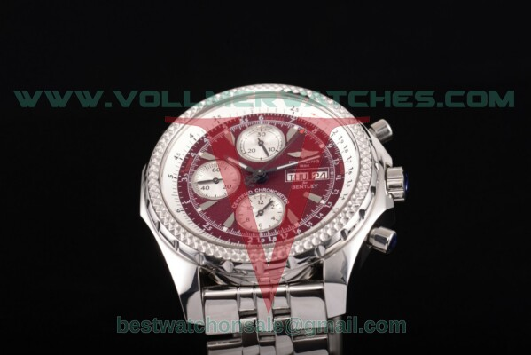 Breitling Bentley Motors Chrono 7750 Auto Red Dial with Steel Case a2536412/g677- ss (BP)