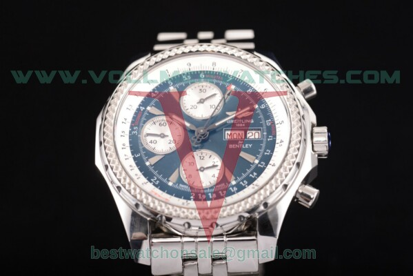 Breitling Bentley Motors Chrono 7750 Auto Blue Dial with Steel Case a2536412/g679 -ss (BP)