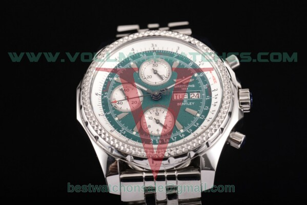 Breitling Bentley Motors Chrono 7750 Auto Green Dial with Steel Case a2536412/g680-ss (BP)