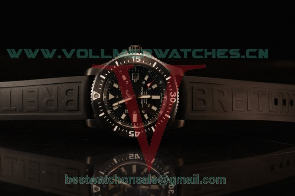 Breitling SuperOcean 2824 Auto Black PVD Case with Black Dial and Black Rubber Strap - 1:1 Origianl (GF)