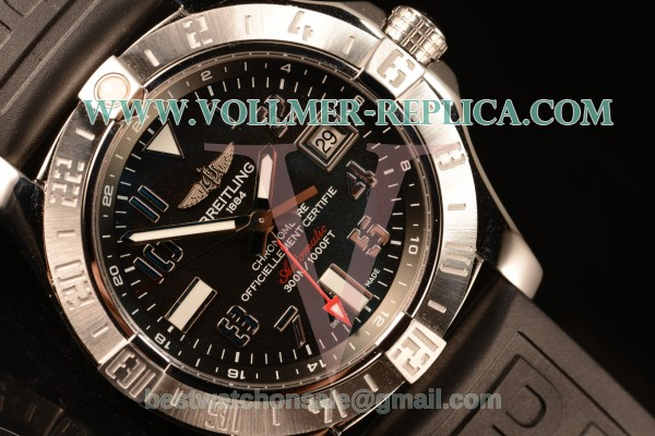 Breitling Avenger II GMT Black Dial With Swiss ETA 2836 Automatic Rubber Strap Best Edition A32390111B2S1