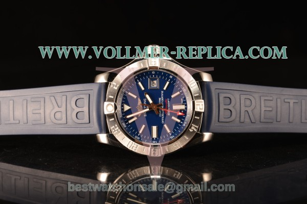 Breitling Avenger II GMT Blue Dial With Swiss ETA 2836 Automatic Rubber Strap Best Edition A32390111C1S2