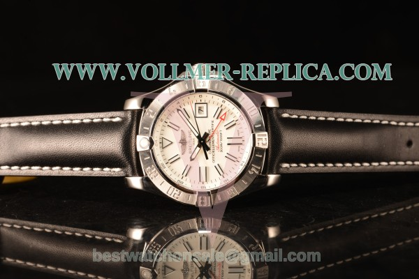 Breitling Avenger II GMT White Dial With Swiss ETA 2836 Automatic Leather Strap Best Edition A3239011/G778/435X/A20BA.1