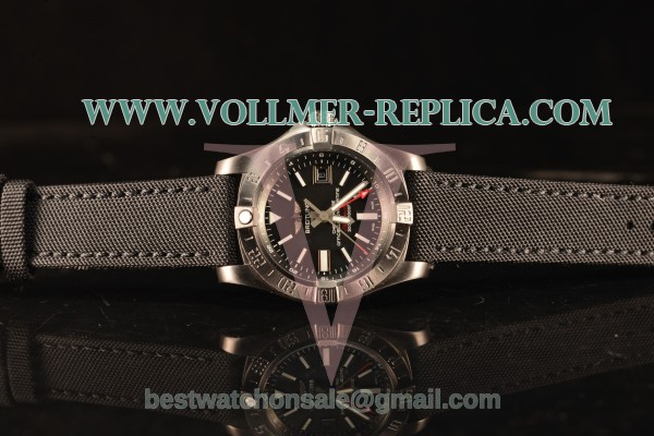 Breitling Avenger II GMT Black Dial With Swiss ETA 2836 Automatic Leather Strap Best Edition A17318101B1X2