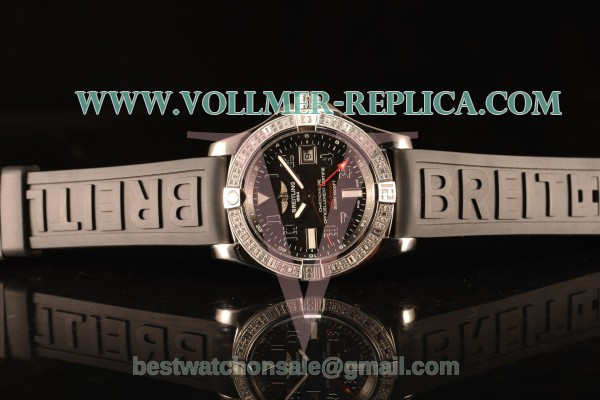 Breitling Avenger II GMT Black Dial With Swiss ETA 2836 Automatic Black Rubber Strap Best Edition A32390111B2S2