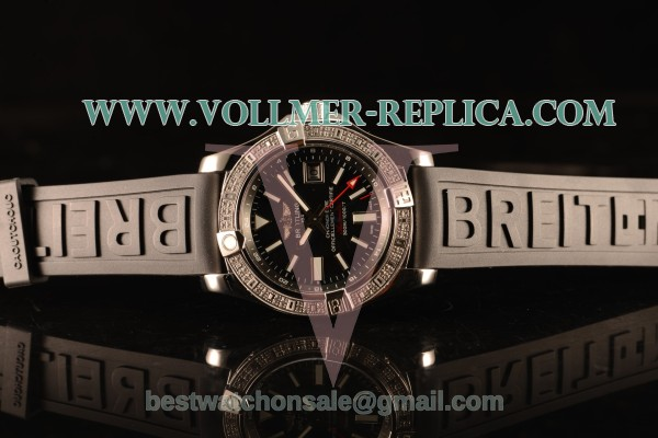 Breitling Avenger II GMT Black Dial With Swiss ETA 2836 Automatic Black Rubber Strap Best Edition A32390111B1S2