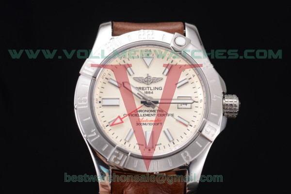 Breitling Avenger II GMT 2824 Auto White Dial With Steel Case A3239011-G778-437X-A20BA.1