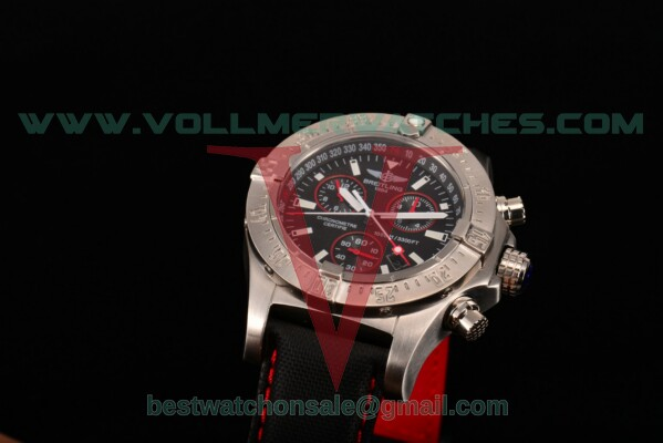 Breitling Aeromarine Avenger Seawolf Chronograph 7750 Auto Black Dial With Steel Case M7339010/BA04 SR