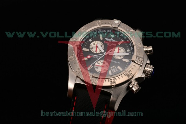 Breitling Aeromarine Avenger Seawolf Chronograph 7750 Auto Black Dial With Steel Case M7339010/BA04R
