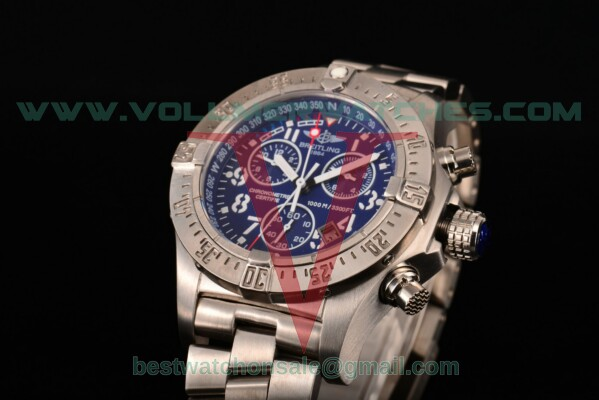 Breitling Aeromarine Avenger Seawolf Chronograph 7750 Auto Blue Dial With Steel Case M7339011/BA05B
