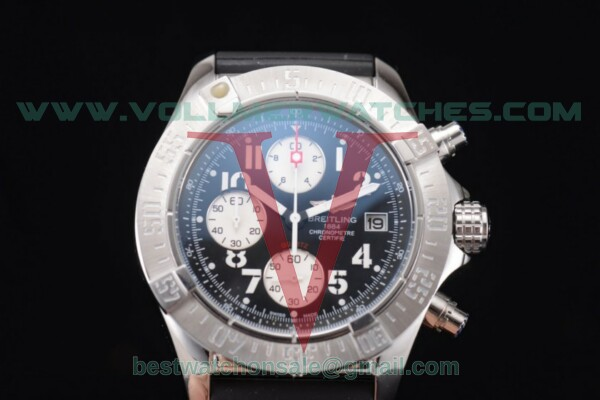 Breitling Avenger Seawolf Chronogrpah Miyota OS10 Quartz Black Dial with Steel Case a1338012/g124-3ct