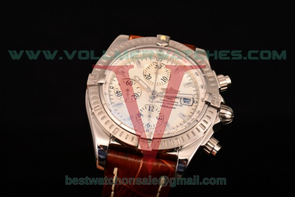 Breitling Chronomat Evolution Chrono Valjoux 7750 Auto White Dial with Steel Case A1335653/B822 (BP)