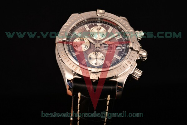 Breitling Chronomat Evolution Chrono Valjoux 7750 Auto Grey Dial with Steel Case A1335653/B823 (BP)