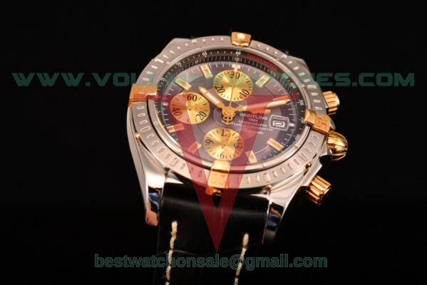 Breitling Chronomat Evolution Chrono Valjoux 7750 Auto Grey Dial with Steel Case A1335653/B923 (BP)