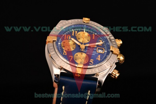Breitling Chronomat Evolution Chrono Valjoux 7750 Auto Blue Dial with Steel Case A1335653/B9242 (BP)