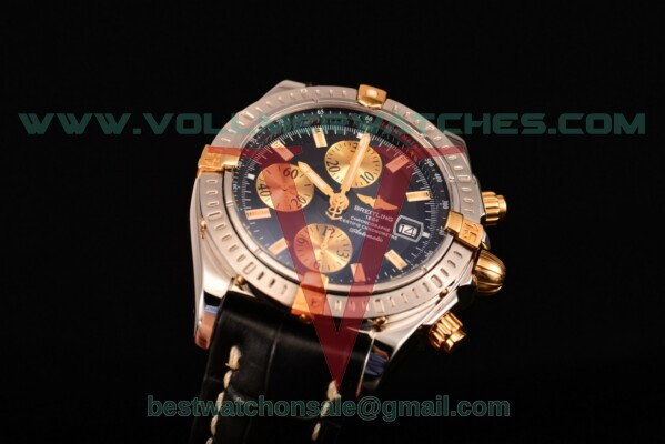 Breitling Chronomat Evolution Chrono Valjoux 7750 Auto Black Dial with Steel Case A1335653/B9253 (BP)