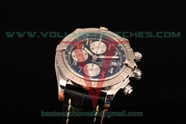 Breitling Chronomat Evolution Chrono Valjoux 7750 Auto Black Dial with Steel Case A1335653/B825 (BP)