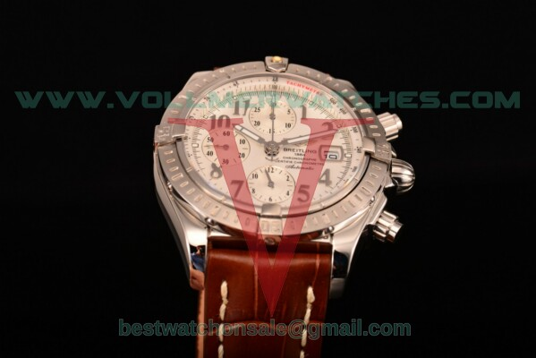 Breitling Chronomat Evolution Chrono Valjoux 7750 Auto White Dial with Steel Case A1335653/B8222 (BP)