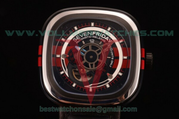 SevenFriday P3-BB 8215 Auto Skeleton Dial with Steel Case P3-BB