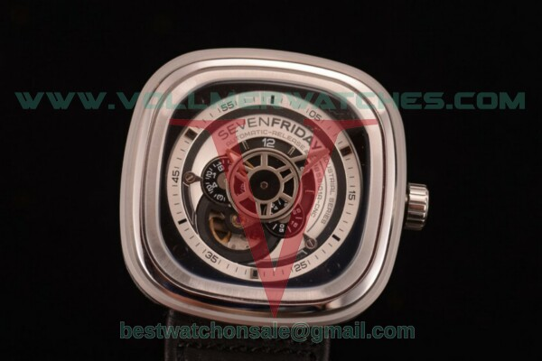 SevenFriday P1B-01 8215 Auto Skeleton Dial with Steel Case P1B-01