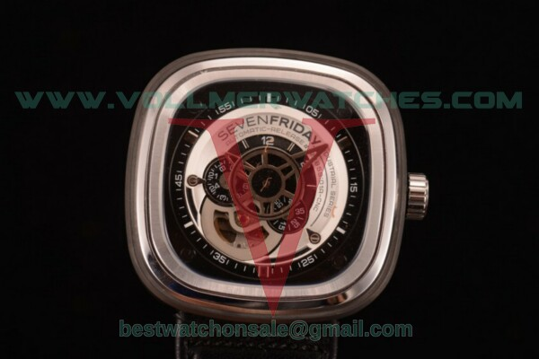 SevenFriday P1-01 8215 Auto Skeleton Dial with Steel Case P1-01