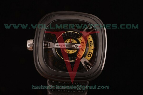 SevenFriday M2-1 8215 Auto Skeleton Dial with PVD Case M2-1