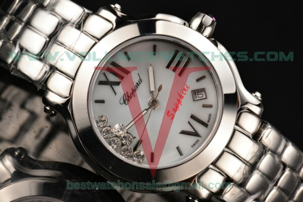 Chopard Happy Sport II ETA Quartz White MOP Dial with Steel Case 278509-3006
