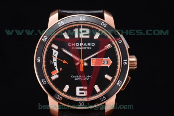 Chopard Mille Miglia GTS Power Control Chrono Miyota OS2035 Quartz Black Dial with Rose Gold Case 161296-5002.ORG