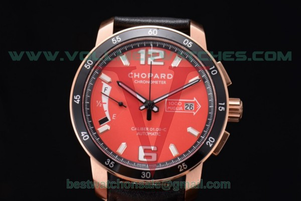 Chopard Mille Miglia GTS Power Control Chrono Miyota OS2035 Quartz Red Dial with Rose Gold Case 161296-5002