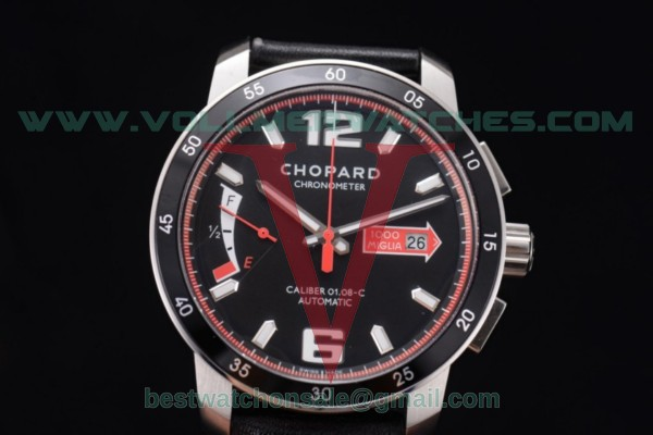 Chopard Mille Miglia GTS Power Control Chrono Miyota OS2035 Quartz Black Dial with Steel Case 168566-3002.RED