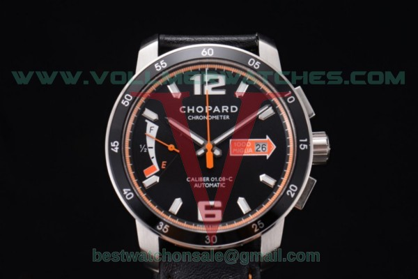 Chopard Mille Miglia GTS Power Control Chrono Miyota OS2035 Quartz Black Dial with Steel Case 168566-3002.ORG