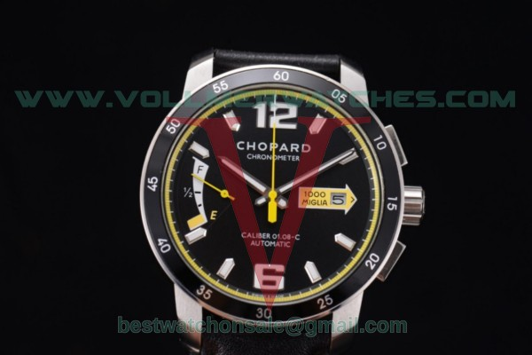 Chopard Mille Miglia GTS Power Control Chrono Miyota OS2035 Quartz Black Dial with Steel Case 168566-3002.YEL