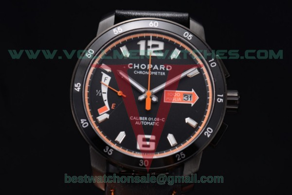 Chopard Mille Miglia GTS Power Control Chrono Miyota OS2035 Quartz Black Dial with PVD Case 168565-3003.org