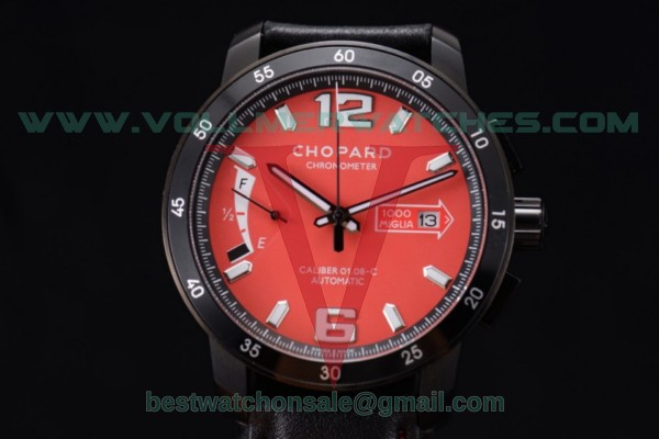 Chopard Mille Miglia GTS Power Control Chrono Miyota OS2035 Quartz Red Dial with PVD Case 168565-3003.red