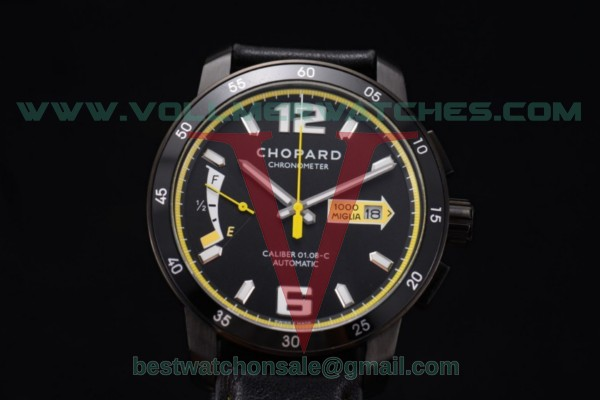 Chopard Mille Miglia GTS Power Control Chrono Miyota OS2035 Quartz Black Dial with PVD Case 168565-3003.yel