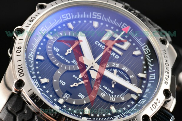 Chopard Classic Racing Chronograph Limited Edition Miyota Quartz Black Dial With Steel Case 168523-3001