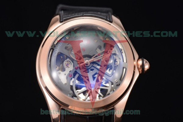 Corum Bubble Skeleton 3001 Auto Skeleton Dial with Rose Gold Case 082.130.20.rblk