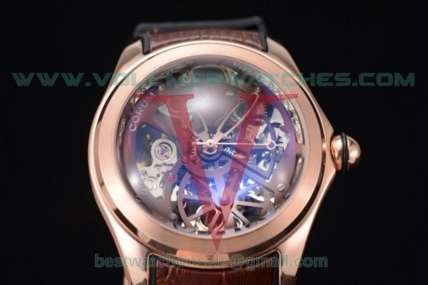 Corum Bubble Skeleton 3001 Auto Skeleton Dial with Rose Gold Case 082.130.20.rbrn