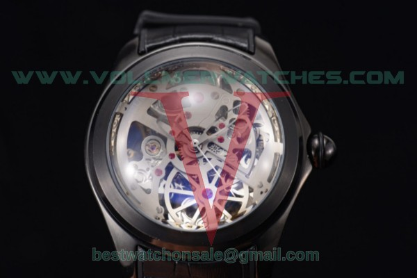 Corum Bubble Skeleton 3001 Auto Skeleton Dial with PVD Case 082.130.20.bwht