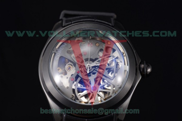 Corum Bubble Skeleton 3001 Auto Skeleton Dial with PVD Case 082.130.20.bblk
