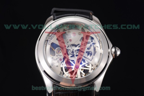 Corum Bubble Skeleton 3001 Auto Skeleton Dial with Steel Case 082.130.20.wht