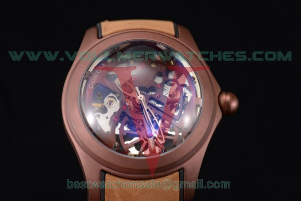 Corum Bubble Skeleton 3001 Auto Skeleton Dial with Brown PVD Case 082.130.20.pbrn