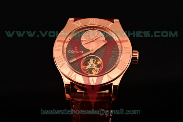 Corum Heritage Romvlvs Auto Brown Dial with Rose Gold Case 009.510.55/015
