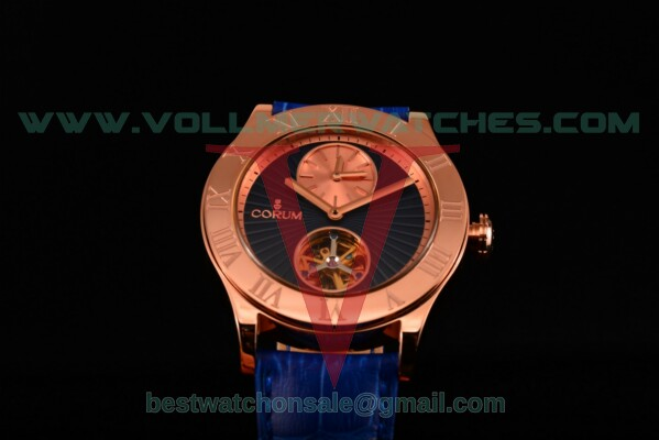 Corum Heritage Romvlvs Auto Blue Dial with Rose Gold Case 009.510.55/016