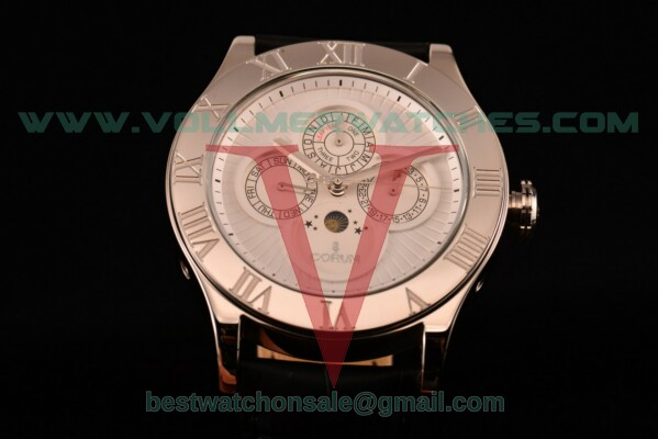 Corum Heritage Romvlvs Auto White Dial with Steel Case 372.749.69/0F84 0002
