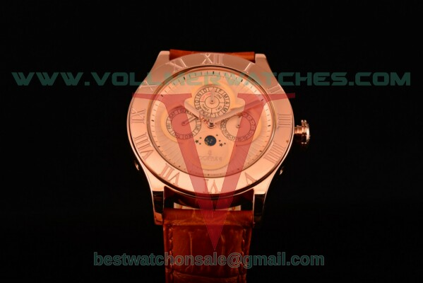 Corum Heritage Romvlvs Auto Gold Dial with Rose Gold Case 372.749.69/0F84 0003